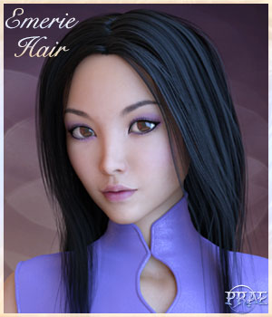 Prae Emerie Hair For G3 and G8 3D Figure Assets prae