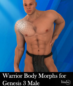 Warrior Body Morphs for Genesis 3 Male 3D Figure Assets biala