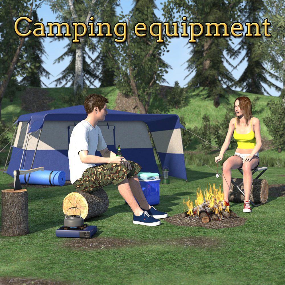 Camping equipment scene by 2nd_World