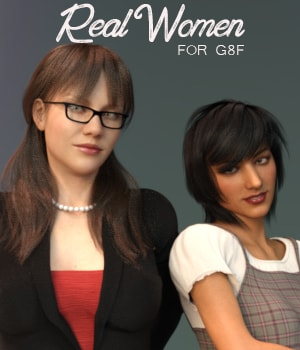 Real Women for G8F 3D Figure Assets AliveSheCried