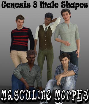 Masculine Morphs Genesis 8 Male Shapes 3D Figure Assets aeris19