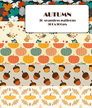 Autumn - Seamless texture 2D Graphics Merchant Resources romawka