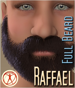 Raffael - Full Beard 3D Figure Assets 3Dream