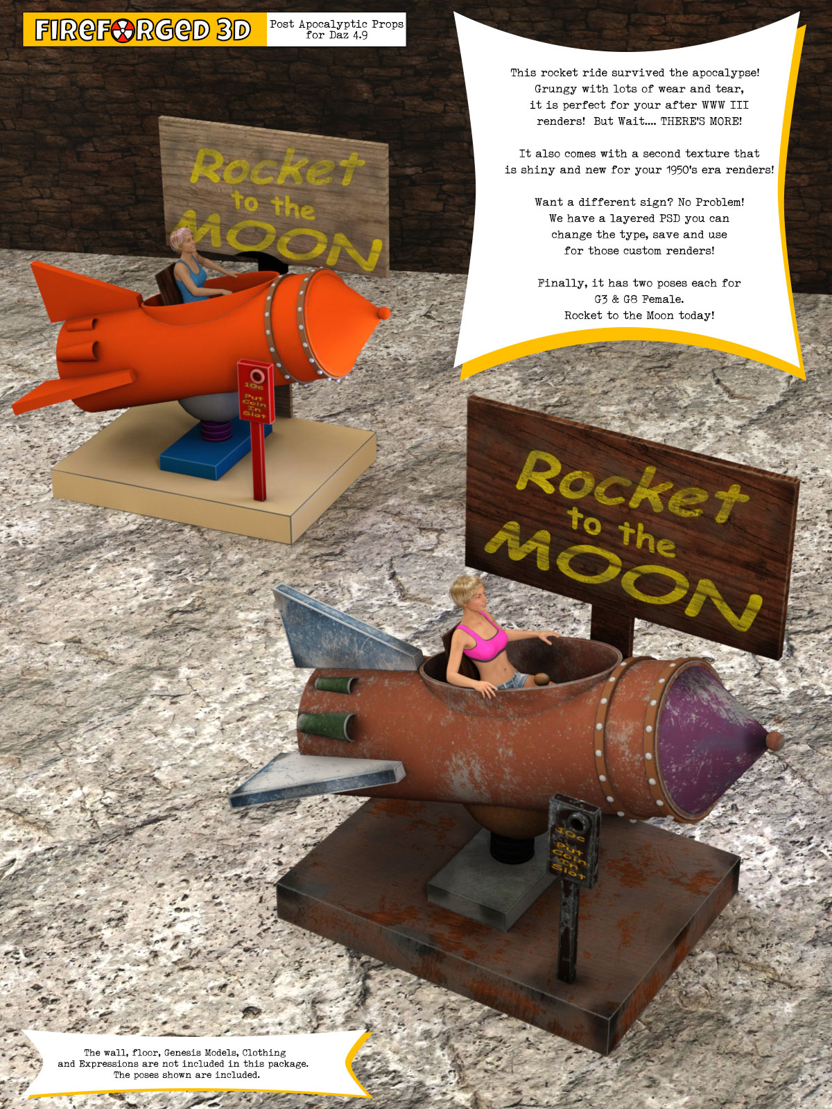 Rocket Ride and Poses for Daz Studio