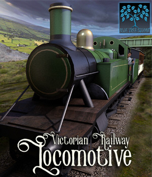 Victorian Railway Locomotive 3D Models BlueTreeStudio