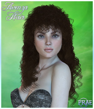 Prae-Avenza Hair for V4 Poser 3D Figure Assets prae