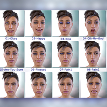 Real Life Expressions for G8F & V8 - With Morphing Tears image 1