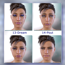 Real Life Expressions for G8F & V8 - With Morphing Tears image 3
