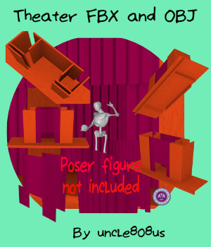 Theater Stage FBX and OBJ 3D Models uncle808us