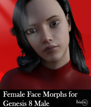Female Face Morphs for Genesis 8 Male 3D Figure Assets biala