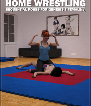 Home Wrestling Poses for Genesis 3 Females 3D Figure Assets Flipmode