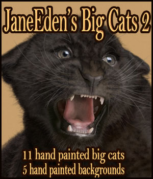 JaneEden's Big Cats 2 2D Graphics JaneEden