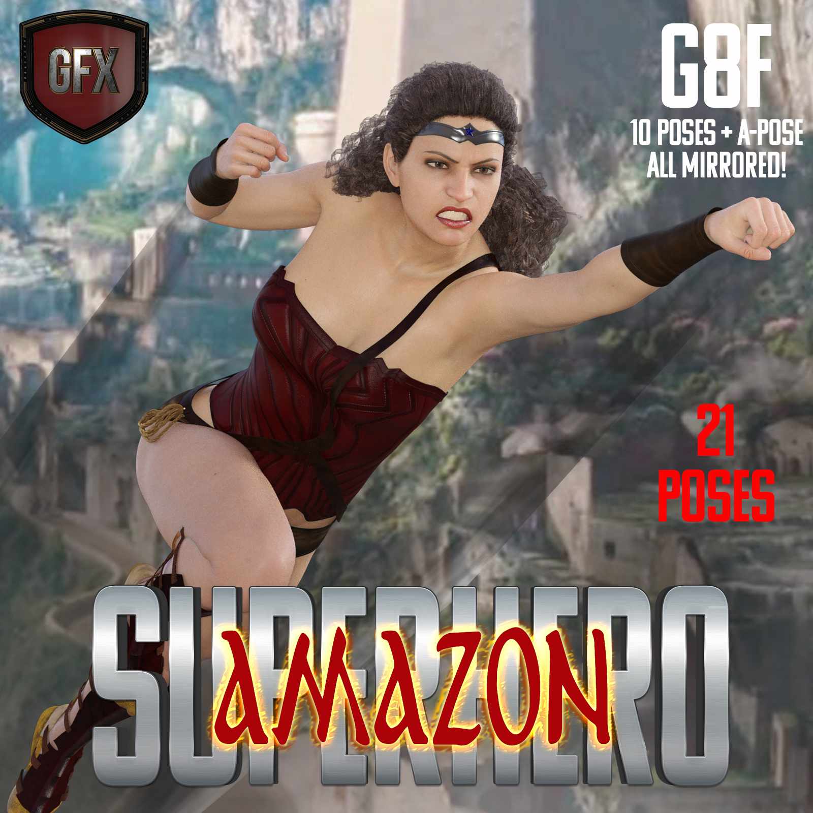 SuperHero Amazon for G8F Volume 1 by GriffinFX