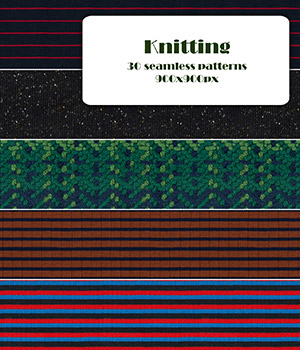 Knitting - Seamless textures 2D Graphics Merchant Resources romawka