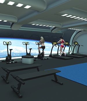 Futuristica_Fitness Center 3D Models coflek-gnorg