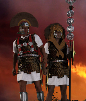 Centurion and Aquilifer for Genesis 3 Male 3D Figure Assets 3D Models Deacon215