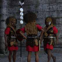 Centurion and Aquilifer for Genesis 3 Male image 2