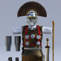 Centurion and Aquilifer for Genesis 3 Male image 6
