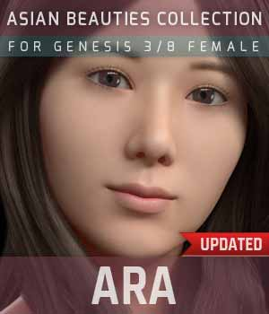 Ara G3G8F for Genesis 3 and 8 Female 3D Figure Assets gravureboxing