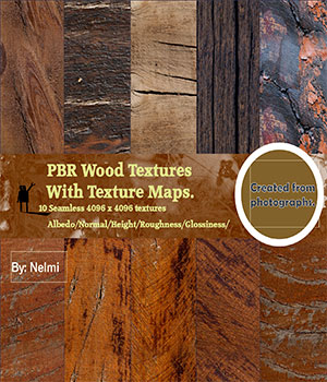 10 PBR Wood Textures with Texture Maps  2D Graphics nelmi