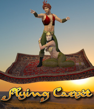 Flying Carpet 3D Figure Assets 3D Models Cybertenko