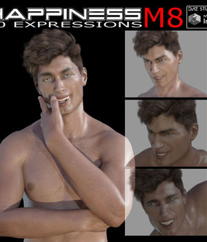 Happiness for Michael 8 and Genesis 8 Male 3D Figure Assets farconville