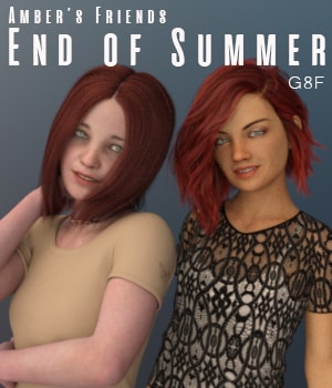 Amber's Friends End of Summer 3D Figure Assets AliveSheCried