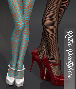 Poser - Retro Pantyhose 3D Figure Assets Merchant Resources Atenais