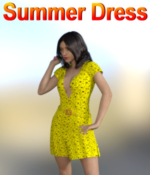 Summer Dress 3D Figure Assets JeffersonAF