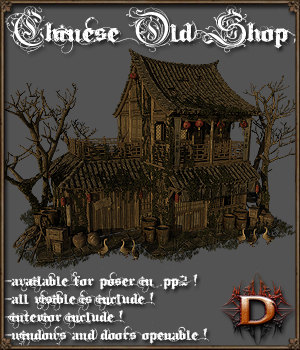 Chinese Old Shop 3D Models Dante78