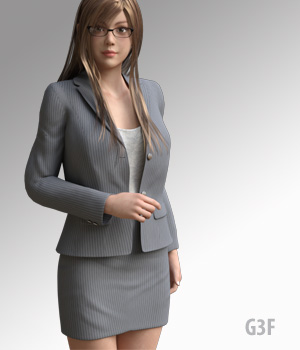G3F Suit for G3F - Extended License 3D Figure Assets Extended Licenses kobamax