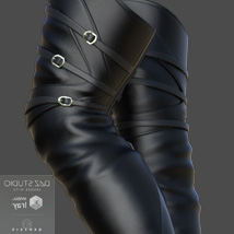 Mary High Boots for Genesis 8 Females image 1