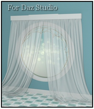 Drapery for Daz Studio 3D Models Lully