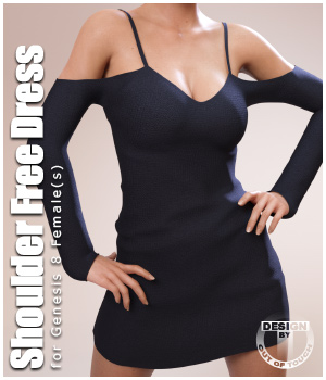 Shoulder Free Dress for Genesis 8 Females 3D Figure Assets outoftouch