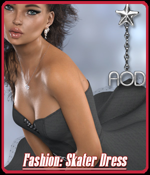 FASHION: Skater Dress 3D Figure Assets ArtOfDreams