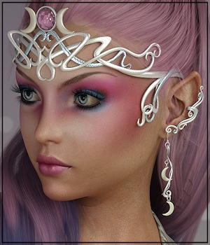 Bling Accents: Goddess Circlet 3D Figure Assets 3-DArena
