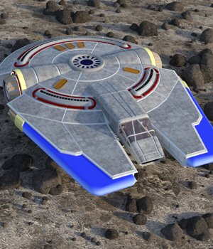 Peregrine Spacecraft - for DAZ Studio  3D Models VanishingPoint