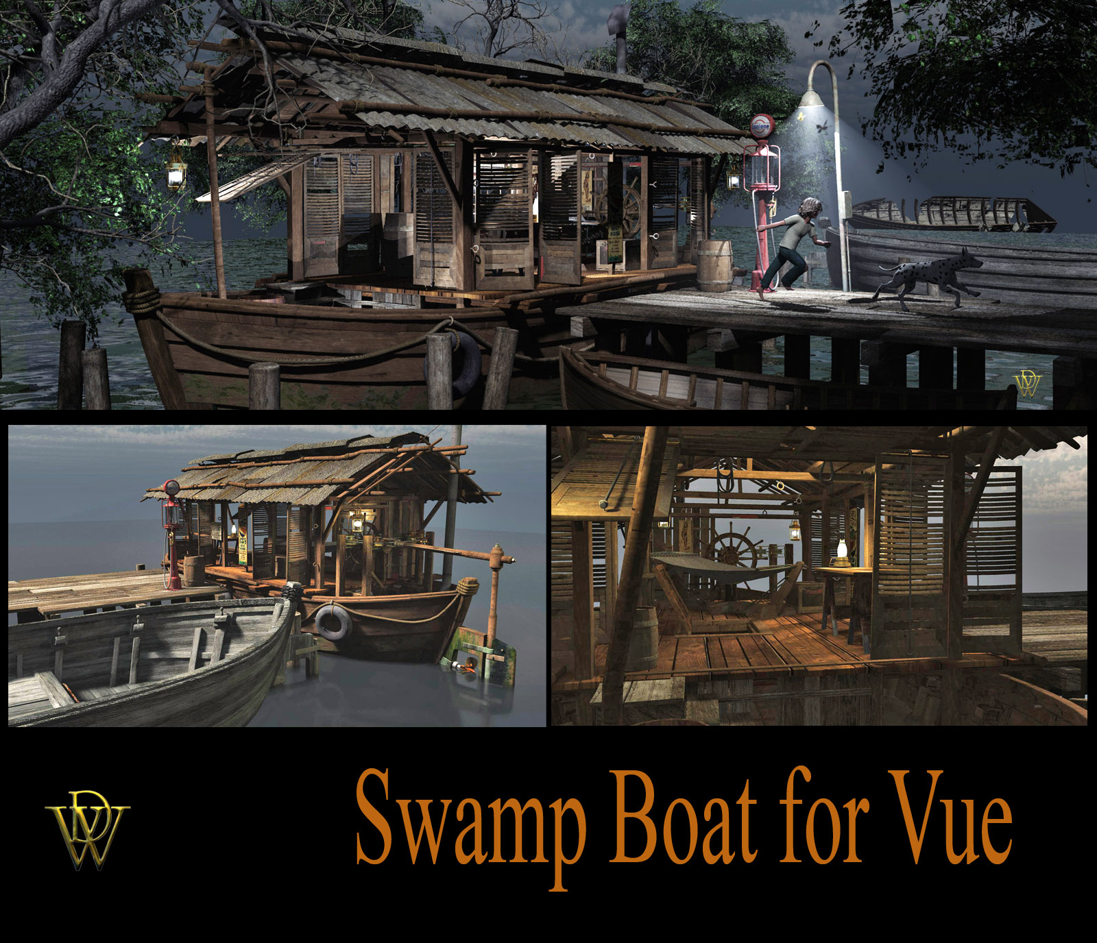 MS17 Swamp House Boat for Vue