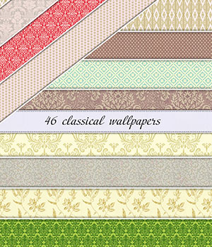 Classical WallPapers :: Seamless Patterns 2D Graphics Merchant Resources Cyrax3D