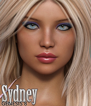Sydney for Genesis 8 Female 3D Figure Assets Silver