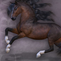CWRW Pose Pack 1 for HiveWire Horse image 1