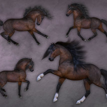 CWRW Pose Pack 1 for HiveWire Horse image 6