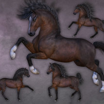 CWRW Pose Pack 1 for HiveWire Horse image 8
