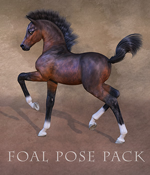 CWRW Pose Pack for the HiveWire Foal 3D Figure Assets cwrw