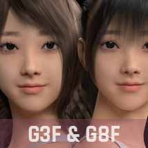 Beibei G3G8F for Genesis 3 and 8 Female image 3