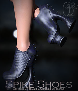 CB Spike Shoes G3F & G8F 3D Figure Assets CynderBlueDesigns