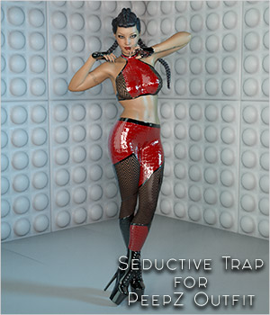 Seductive Trap for PeepZ Outfit G3F and G8F 3D Figure Assets SynfulMindz