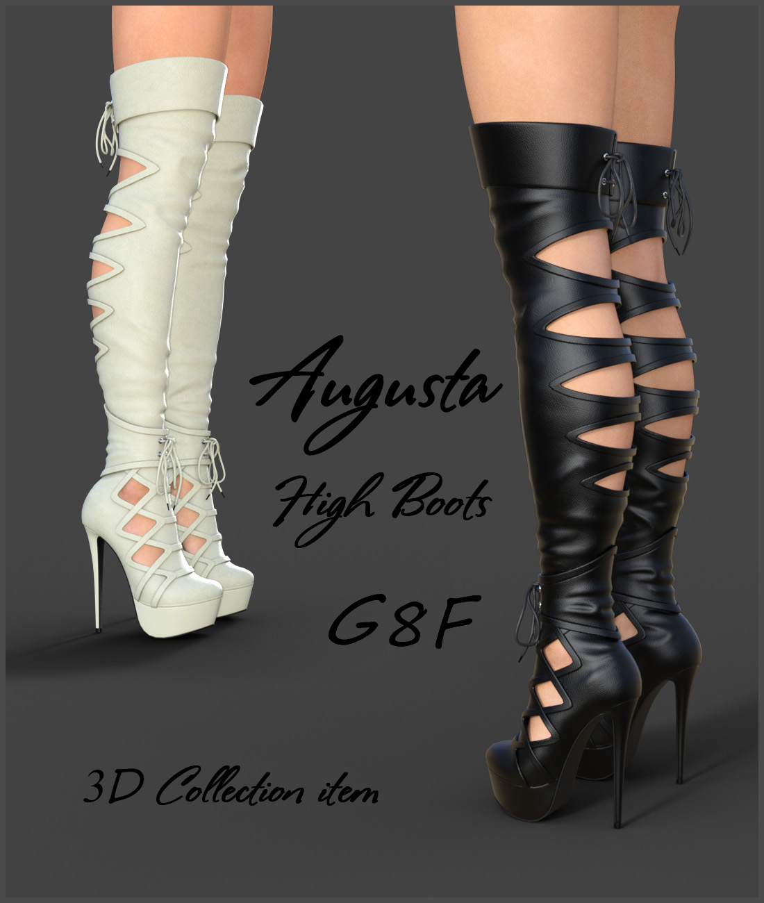 Augusta High Boots for Genesis 8 Females by Onnel