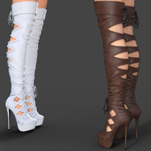 Augusta High Boots for Genesis 8 Females image 3