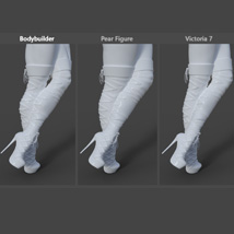 Augusta High Boots for Genesis 8 Females image 6